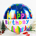 Round Happy Birthday Aluminium Membrane Baby Shower Birthday Party Balloon(Random Color)