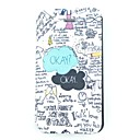 OKAY Word Scrawl Pattern PU Leather Full Body Case for iPhone 4/4S