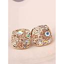 Korea Big Champagnel Imitation Diamond Alloy Clip ,Stud Earrings for Women in Jewelry