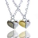 Couples Alloy Heart Pendant Necklace