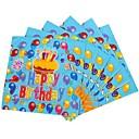 Coway 30301 20 pcs/Package Blue Cute Cartoon Pattern Birthday Napkins
