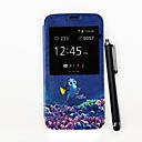 Just Keep Swimming Pattern PU Full Body Case with Stand and A Stylus Pen for Samsung Galaxy S5 I9600