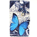 The Pearl Big Butterfly Pattern PU Leather Case with Wallet Card Slot for Samsung Galaxy Note 4