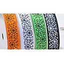 3/8 Inch Halloween Series A spiders Web Pattern Rib Ribbon Printing Ribbon- 100 Yards Per Roll (More Colors)