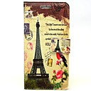 Red Bird Tower Pattern PU Leather Full Body Case with Card Slot and Stand for iPhone 6 Plus