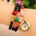 Womens Casual Style Full Rhinestone Band Quartz Analog Bracelet Watch (Assorted Colors)