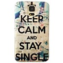 Cross Keep Calm Pattern Plastic Hard Mobile Phone Case for Samsung Galaxy S5 I9600