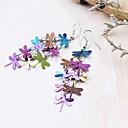 Fashion Copper Dragonfly Drop Earrings for Women(Multicolor)