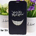 Crazy Teeth Pattern PU Leather Full Body Case with Stand for Samsung Galaxy S5 I9600