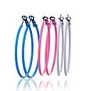 Lureme Simple Style Glaze Fine Circle  Earrings Set(3 Pairs Per Set)