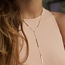 Fashion Alloy Tiny Chain Necklace (Golden,Silver) (1 Pc)