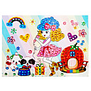 EVA Mosaic Crystal 3D Stickers Children Hand DIY Puzzle Singing Girl Toy