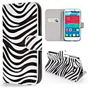 Zebra Stripes Pattern Wallet Style Stand PC Leather Case for Alcatel One Touch POP C9 Dual 7047D