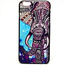 Colorful Elephant Pattern Pattern Hard Case Cover for iPhone 6
