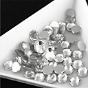 3-3.2mm (White) Flat Back Rhinestones (Phone Beauty) Nail bedazzle 100 pieces