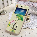 ENKAY Leaf Pattern Protective Call Display Case  Plastic Replacement Back Cover for Samsung Galaxy Grand 2 G7106