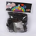 600PCS Black Rainbow Loom Style Fun Loom Rubber Band(1Pack S Clip)
