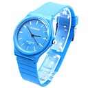 Womens Round Dial Silicone Band Quartz Wrist Watch (Assorted Colors)