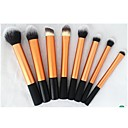8pcs Gold Cosmetic Makeup Brush Set