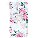 Rose Pattern PU Leather Case with Card Slot and Stand for Samsung Galaxy S5mini