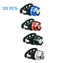20PCS Aluminum Alloy Waterproof Cycling Warning Light(Assorted Color)