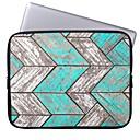 Elonbo Bohemian Wood Stripe 13 Laptop Neoprene Protective Sleeve Case for Macbook Pro/Air Dell HP Acer