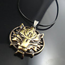 Mens Tiger Head Leather Pendant Necklace