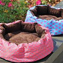Lureme Warm Wave Point Pattern Round Nest for Pets Dogs(Random color)