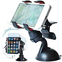 DSB Premium 360 Degree Rotating Double Clip Universal Windshield Car Mount Holder for iPhone 4/4S/5/5S/6