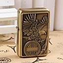 Vintage Style Bronze Eagle Relief Pattern Kerosene Lighter