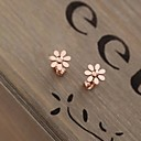 Lureme Simple Lovely  Smooth  Daisy Earring