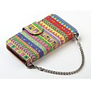 Aztec Tribal Hybrid Folio PU Leather Wallet Case Flip Stand Cover for iPhone 6 Plus