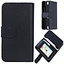 5.5  High Grade Black Wallet Pattern PU Leather Cover for iPhone 6  Plus