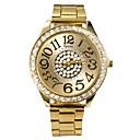 Womens New Fashion Gold  with Diamond Style Metal band Quartz Wrist Watch