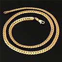 Mens High Quality 18K Real Gold Plated Figaro Chunky Chain Necklace with 18K Stamp 6MM 55CM