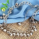 Alloy Bells Anklet White K (1Pc)