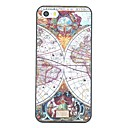 Ancient Map Pattern PC Hard Back Cover Case for iPhone 5/5S