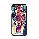 Personalized Case Tiger Pattern Metal Case for iPhone 6 Plus