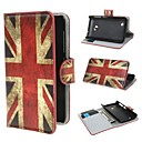 UK Flag Pattern PU Leather Cover with Stand and Card Slot for Nokia Lumia 530