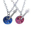 Couples Alloy Guitar Pendant Necklace