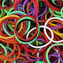 600PCS Mix Colors Rainbow Loom Style Fun Loom Rubber Band(1Pack S Clip,Color Random)