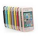 XUNDD Solid Color TPU Transparent Ultra-Thin with Cover Can Touch Full Body Cases for iPhone 4/4S