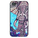 Elephant And Starry Sky Pattern PC Hard Back Cover Case for iPhone 4/4S