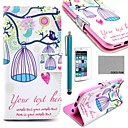COCO FUN Lovely Birdcage Pattern PU Leather Full Body Case for iPhone 6 6G 4.7 with Screen Protecter, Stand and Stylus