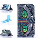 Green Eyes Pattern PU Leather Full Body Case with Stand for iPhone 5C