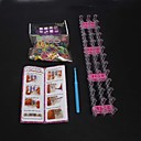 Rainbow Loom Style Fashion Loom Set (600pcs Rubber Bands,1 Package Clips , 1 Hook,1 Looms,1 Instructions)