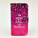 Crown Pattern PU Leather Case with Stand and Card Slot for  iPhone 4/4S