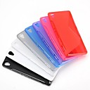 Simple Style S Shape Design Gel TPU Case for Sony Xperia Z3 D6603 D6653(Assorted Colors)