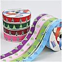 08.03 pulgadas árbol de Navidad y el patrón de impresión de cinta costilla nieve hermosa cinta de 5 m cada bolsa