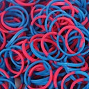 600PCS Rainbow Loom Style 2 Segment Fun Loom Rubber Band(1Pack S Clip,Pink and Blue)